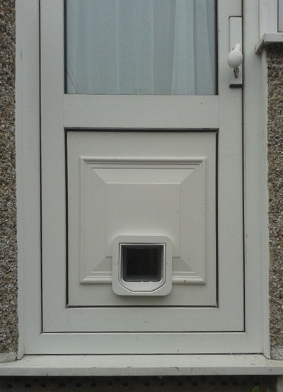 Sureflap Fitted Snugly Into Decorative Upvc Door Panel