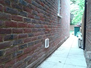 SureFlap fitted through timber framed brick clad wall